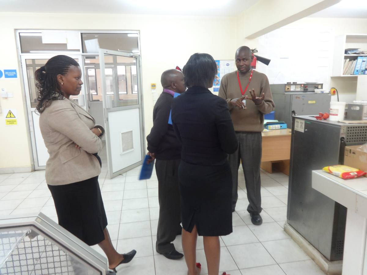 ARSO Officers being given a Brief on KEBS and its Facility